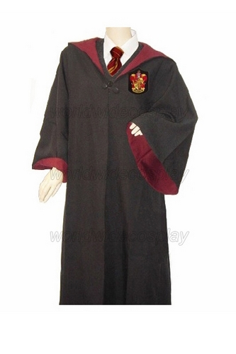Free Shipping Harry Gryffindor Cosplay Robe Cloak Pullover Sweater Shirt Harry Magic Wand for Halloween and Christmas