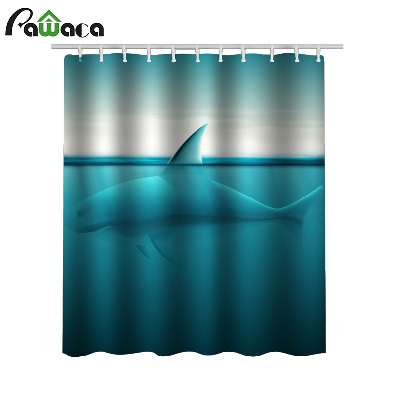 Shower Curtains Bathroom Curtain Deer Tiger Blue Cartoon Pattern Bath Curtains Waterproof Mildewproof Bath Screens with 12 Hook ...