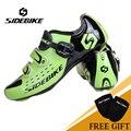 SIDEBIKE/Новинка; Мужская Спортивная обувь для велоспорта; спортивная обувь для шоссейного велосипеда; SD-001; спортивная обувь