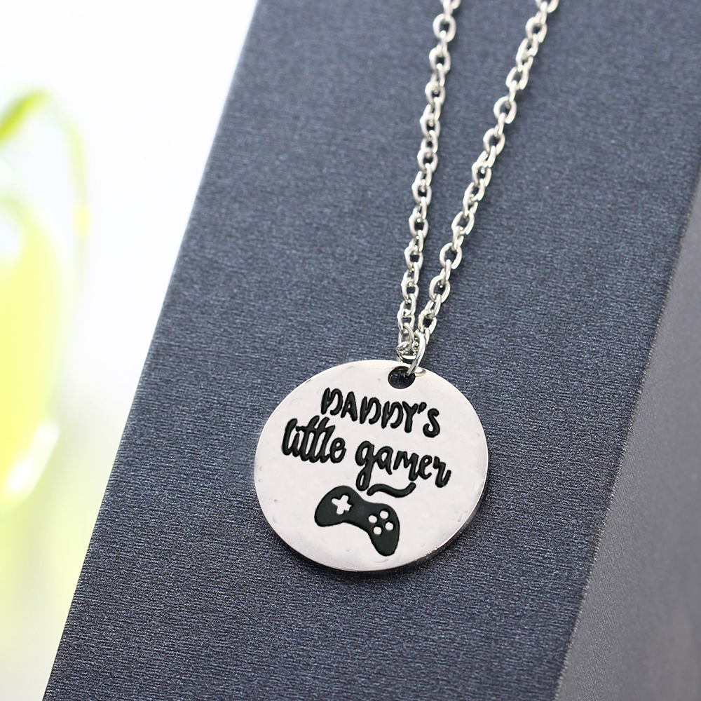 Delicate Daddy S Little Games Pendant Chain Necklace For