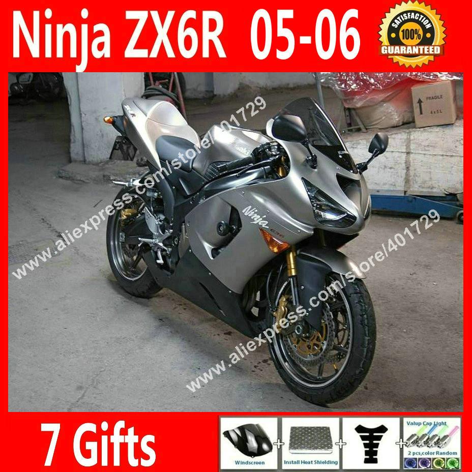 Kualitas Tinggi Fairings Untuk Kawasaki Ninja Zx 6r 636 2005 2006