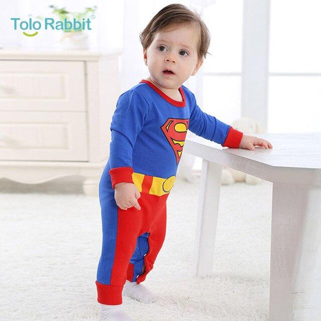 0 2 Anos De Idade 2017 Nova Projeto Superman Macacão De Bebê Roupas
