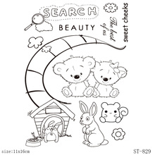 AZSG Fairy Tale Moon/Mouse/Bear Clear Stamps/Seals For DIY Scrapbooking/Card Making/Album Decorative Silicone Stamp Crafts