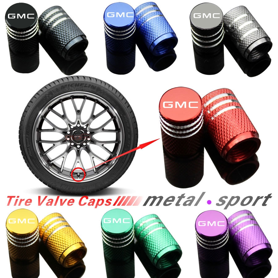 4Piece/set Sport Styling Auto Accessories Car Wheel Tire Valve Caps Case For GMC