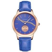 Parar relógio menina relógio de quartzo senhoras moda casual com diamante rosa de ouro dial relógios mulheres se vestem relógios de pulso à prova d' água