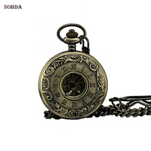 NOBDA bronze pocket watch dad givt bracelet automatic mechanical pocket watches 2017