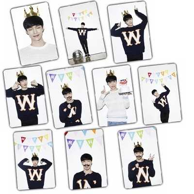 Oppa Store Lay Exo Birthday Fm Activity Crystal Card Posted A Set Of 10 Bus Cards Aliexpress