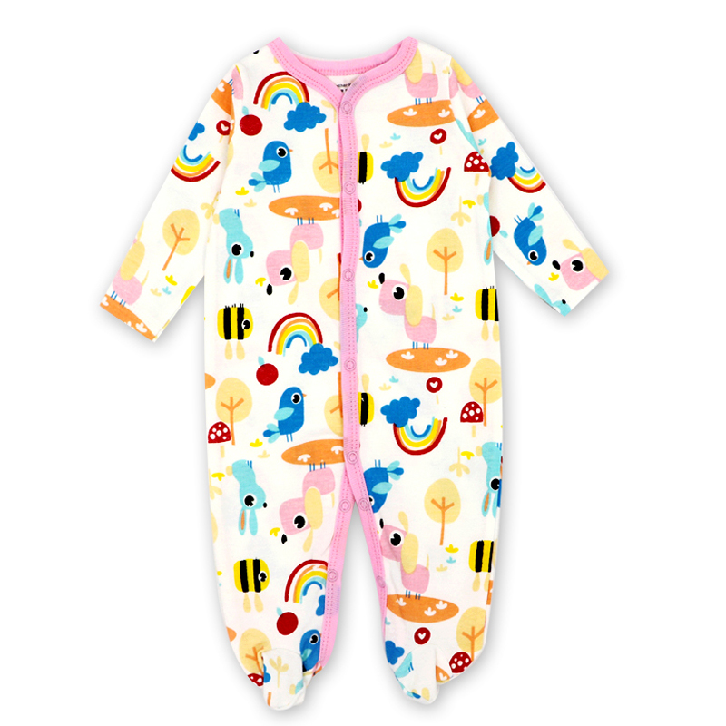 Newborn Baby Girl Clothes New born   Romper   Child Cotton Cartoon printing Infant Clothing 1pcs 0-12 months