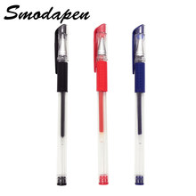 Classic Gel Pen 0.5mm Bullet Cap Pull Examination Pen Smooth Writing Student Office Stationery Red Blue and Black Can Choose(China)