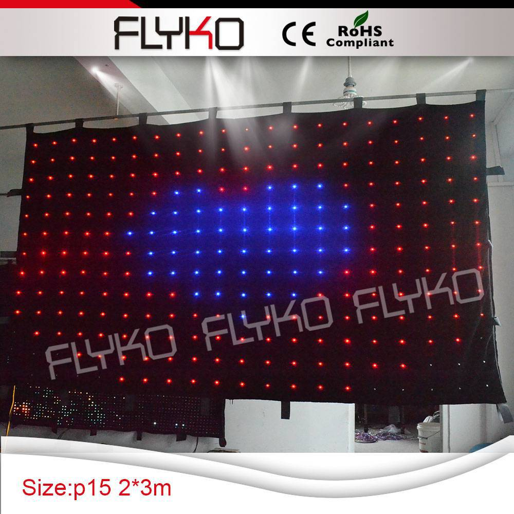 Led Wedding Stage Backdrop Fall Curtain P15cm Led Vedio Cloth RGB 3 in 1 Color