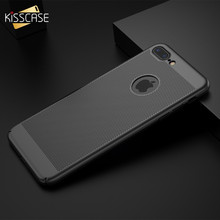 KISSCASE Hollow Breathable Case For iPhone 6S 6 7 8 X Plus Abstract Heat Dissipation Phone Shell For iPhone 5S 5 SE Cover Capa