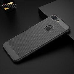KISSCASE creux respirant étui pour iPhone 6 S 6 7 8 X Plus abstrait Dissipation thermique coque de téléphone pour iPhone 5 S 5 SE couverture Capa