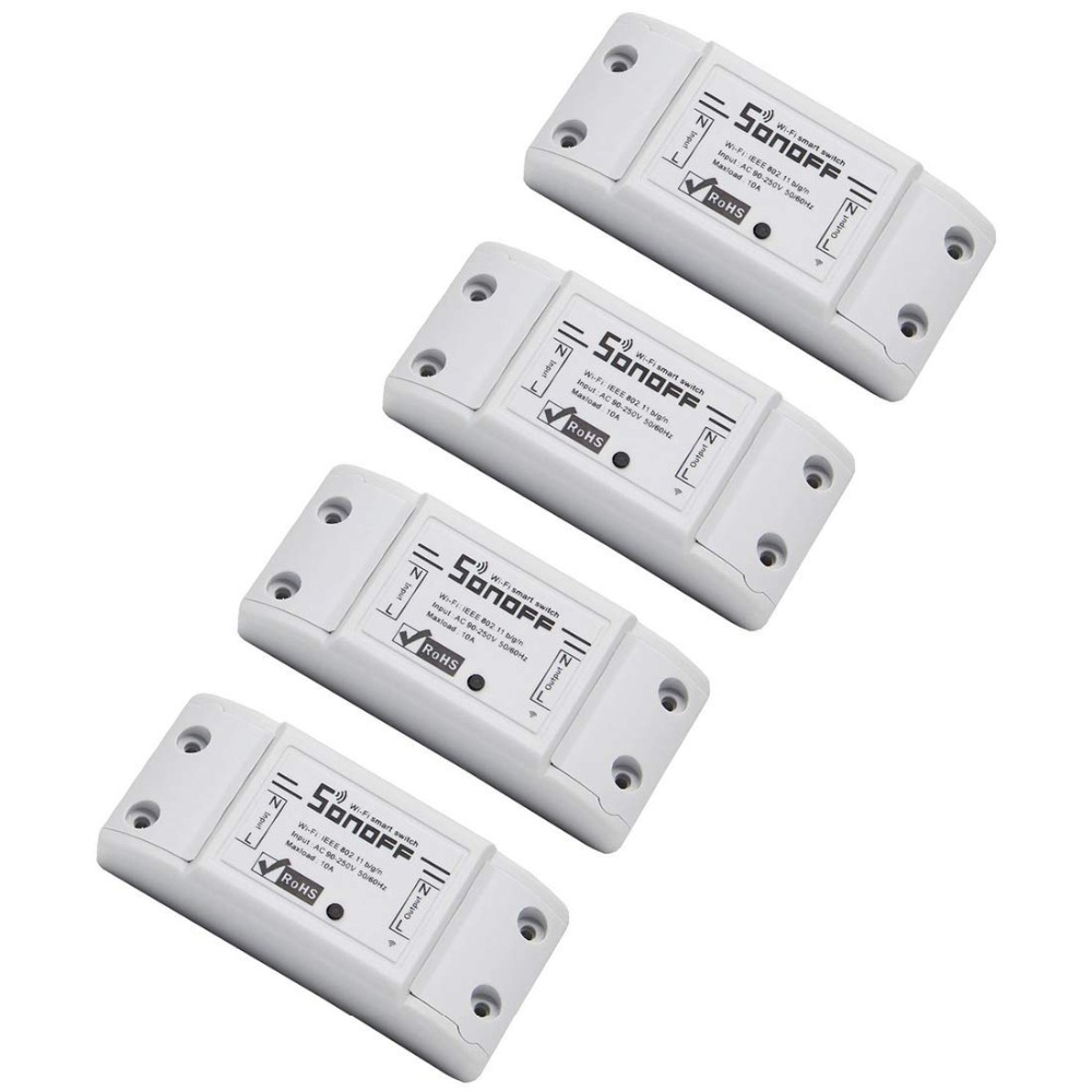 4pcs Light Remote Control Basic Smart Remote Control Wifi Switch Compatible With Alexa DIY Your Home Via Iphone Android App