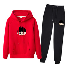 Autumn and winter new Fashion 2 piece set women suit womens tracksuits casual with a hood  sweatshirt two