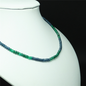 Image 2 - Vintage Classic Natural Stone Jewelry Delicate Sapphires Emeralds Multicolors Beaded Chain Choker Necklace