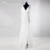 Rsw1003 пикантные пляжные с длинным рукавом Кружево Свадебные платья Vestido branco Интернет-магазин Китай