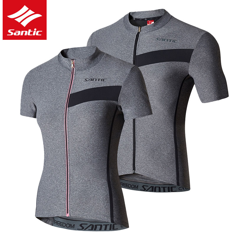 Santic Men Women Cycling Jersey 2019 Summer MTB Road Bike Jersey Breathable Downhill Bicycle Jersey Clothing
