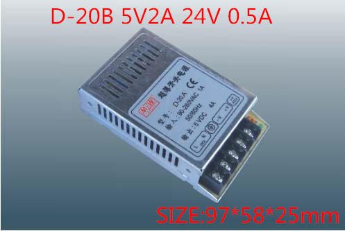 20W Dual Output Switching power supply Output Voltage 5V 24V AC-DC D-20B