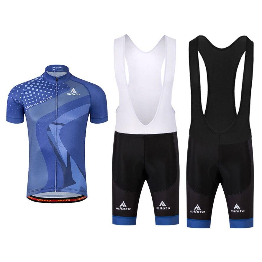 Bicycle Jersey Team (Bib) Set Short Sleeve Mens Cycling Shirts Jersey Original Gauze+MTB Clothing Bib Bottoms Suit High Quality