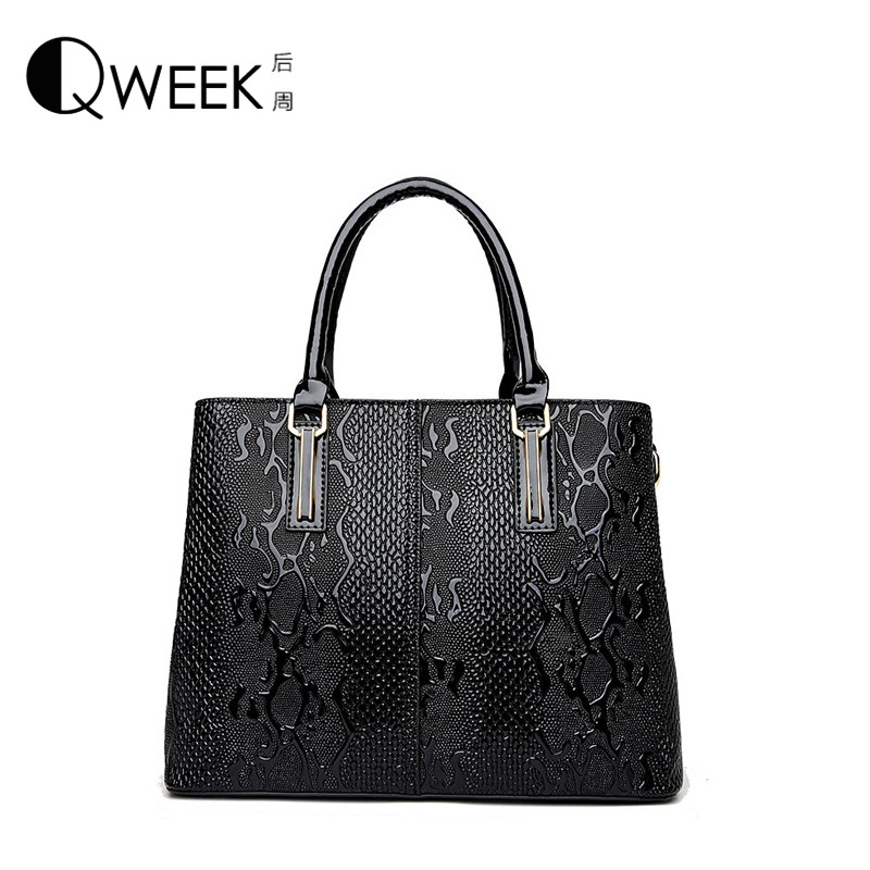 ФОТО Women Messenger Bags 2017 New European Style Serpentine PU Leather Clutch Designer Handbags High Quality Tote Tas Bolsa Feminina