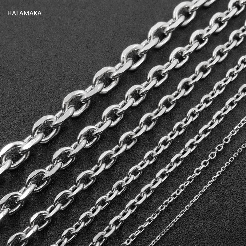 3 4 5 6mm  Stainless Steel Rolo Link Chain Necklace Men/'s Women/'s Lobster claw
