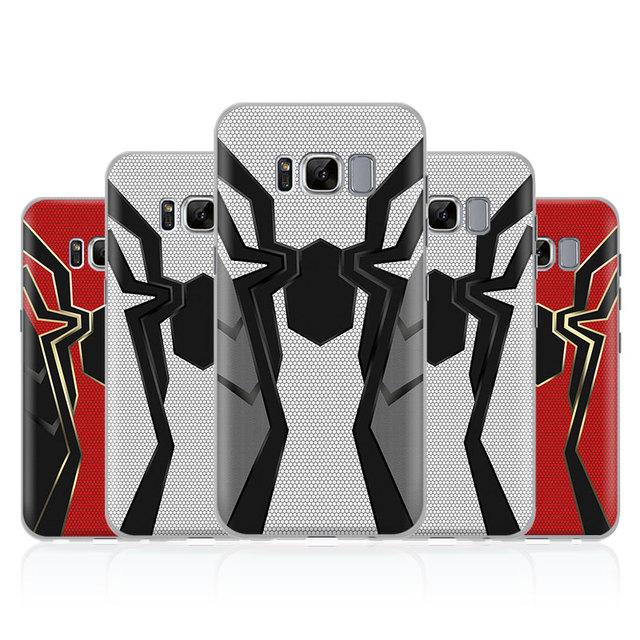 huge selection of c66b7 34c47 Iron Spider man Infinity War iPhone Case For Samsung Galaxy S4 S5 S6 S7  Edge S8 S9 Plus Note 8 2 3 4 5 A5 A7 J5 2016 J7 2017-in Half-wrapped Case  from ...