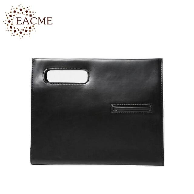 EACME Busta Borse Uomini Europa Borsa Nera Shopping Bags Donne Giorno  Frizione Borsa A Mano Piccola 03490c338ef