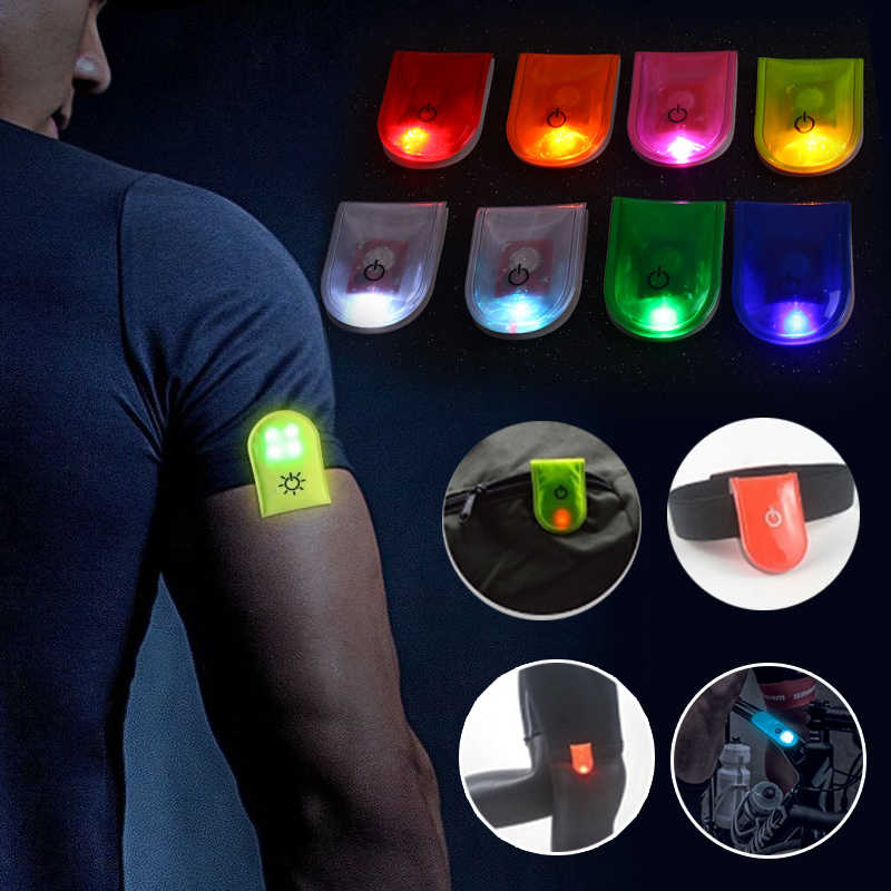 Outdoor Sports Night Running Light Magnet Jogging Led Arm Leg Warning Portable Riding Bike Bicycle Party Glowing 2 modes