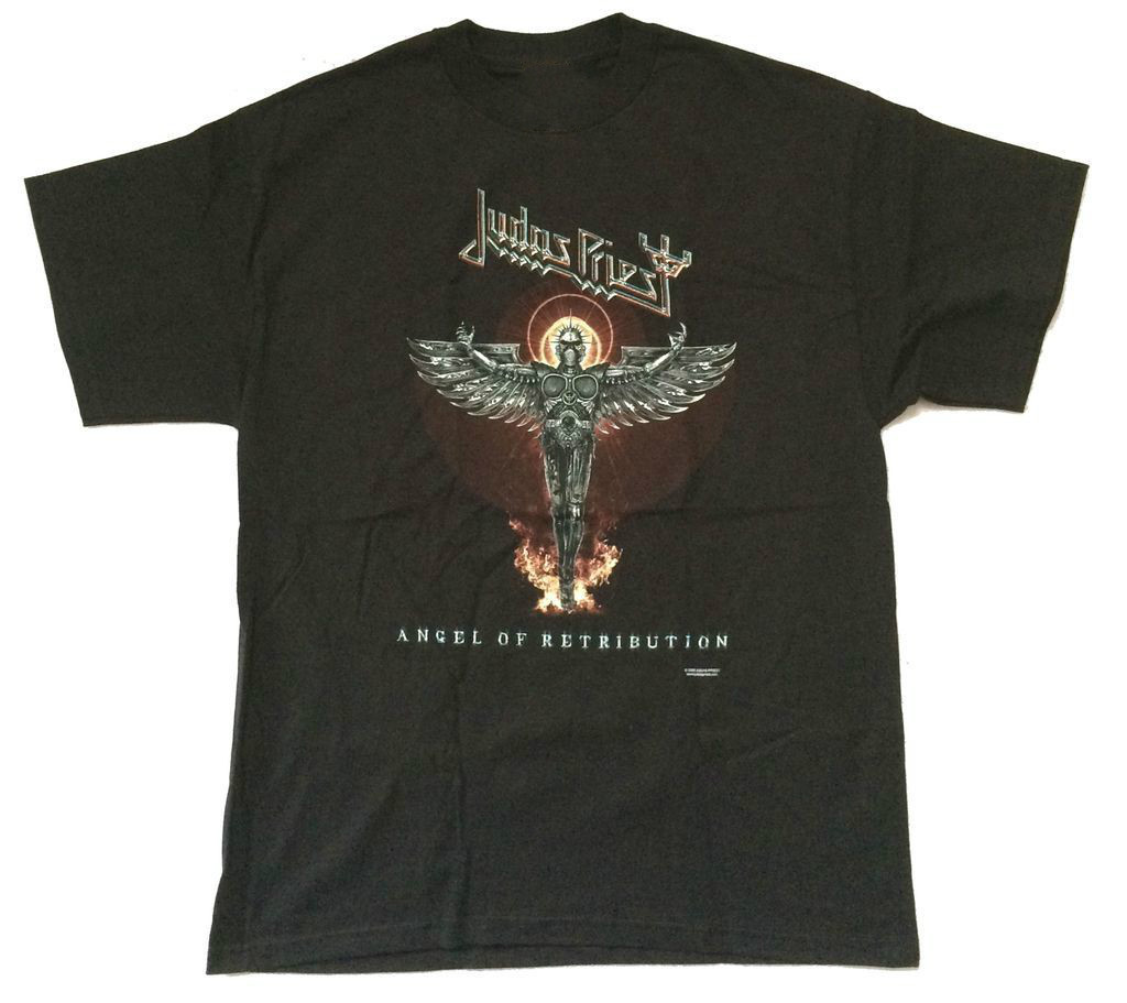 Judas Priest Engel von Retribution World Tour 2005 Schwarz T-shirt Neue Offizielle...
