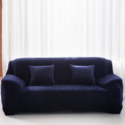 Modern Elastic Slipcover Solid Color Thick Plush Stretch Sectional Sofa Covers for 1/2/3/seater Corner Sofa Covers Couch Cover