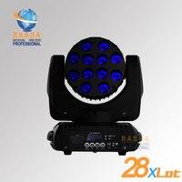 28X много CE утвержден 12*10 Вт C REE 4IN1 RGBW Перемещение Головы Луч, движущихся головного света, луч, свет диско