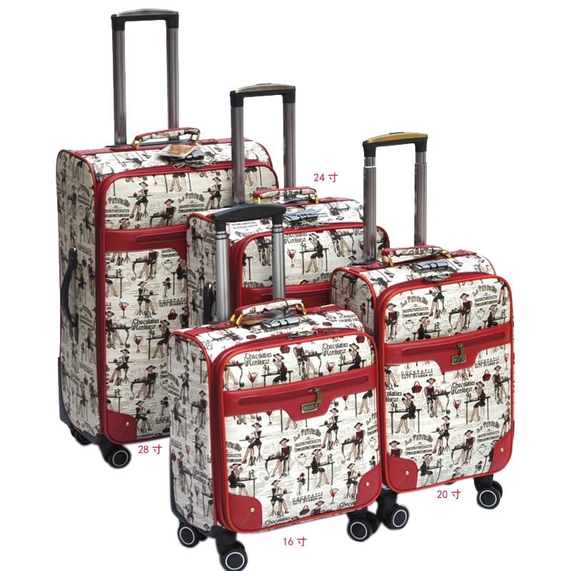 6985a0006 Universal wheels trolley luggage 16 20 24 28 small suitcase luggage bag  travel bag,high. US $95.65. Fashion luggage female small fresh ...