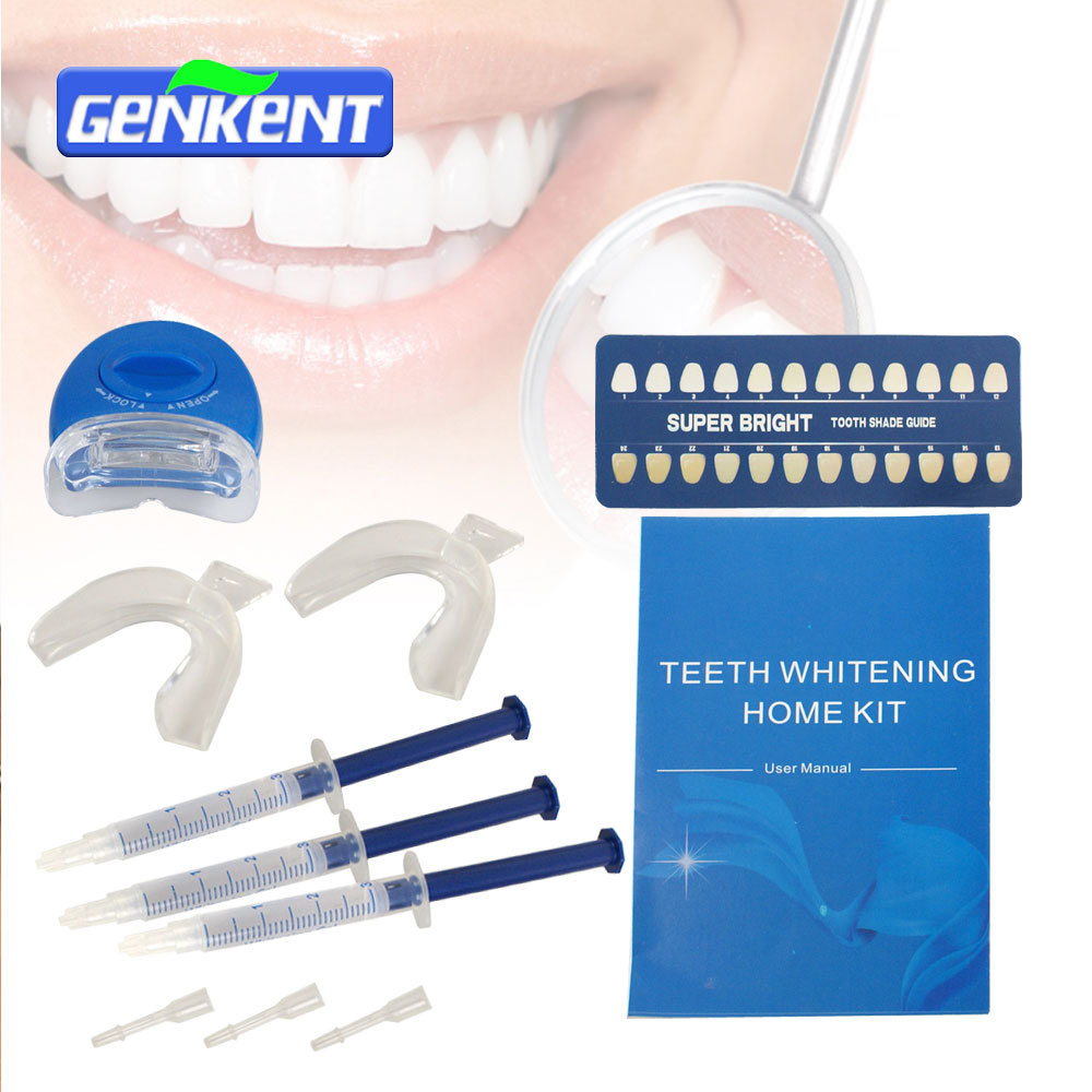 GENKENT Kit de gel blanqueador dental fuerte para el hogar - Higiene oral