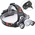 Outdoor LED Headlamp 8000 Lumens Head lamp T6+2*R5 lampe frontale Headlight Head Torch Flashlight with USB Output