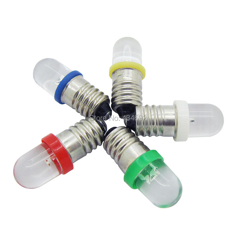 Freies Verschiffen 12 V Schraube Led Lampe Glühbirnen E10 Xenon weiß ...