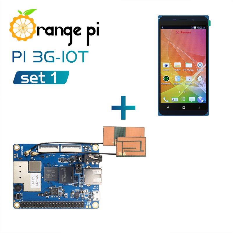 Orange Pi 3G IOT A Set1 Orange Pi 3G IOT A 4 98inch Black color TFT