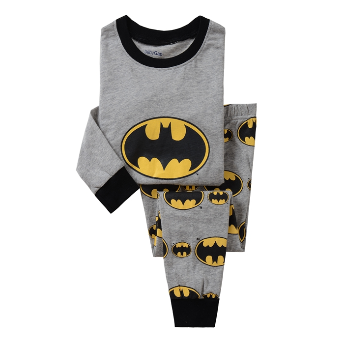 Hot Children Cotton Pajamas Children's Clothing Boys And Girls Batman Pajamas Childrens Nightdress Pyjamas Pijamas(China)