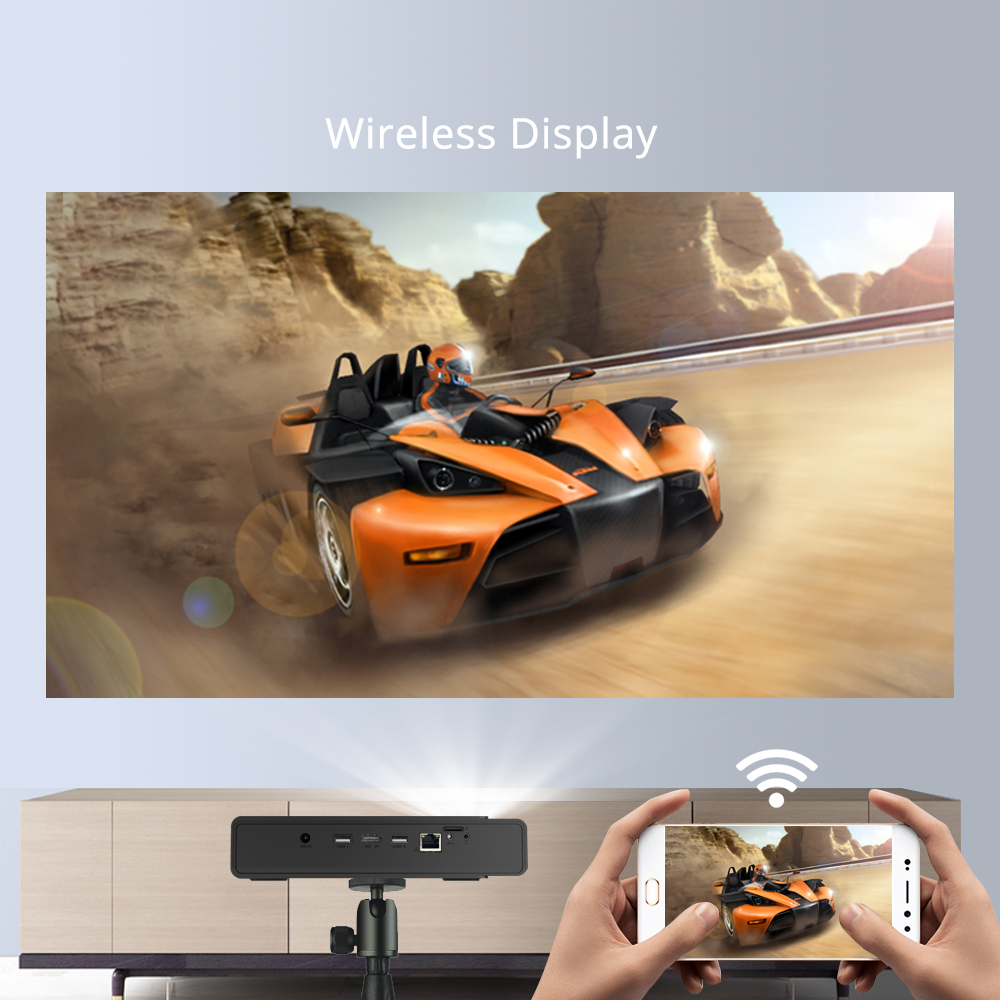 BYINTEK HD MINI 3D Projektor 4K R15 ,Smart Wifi Android Beamer, tragbare LED DLP Projektor für 300 zoll Full HD 4K Heimkino