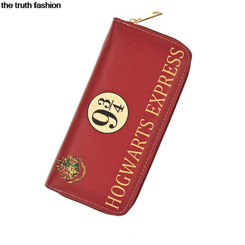 7 colors Harry Potter Letter Zip Around Wallet pu Long Women Wallets Designer Brand Purse Lady Party Handbag Female cion purse the harry potter short wallets jack skellington man purse move wallet doctor who rick and morty cartoon kids cion purse