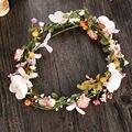 Tiara Bridal Diadema Para Girls Wedding Hair accessories Flower Rattan Crown Wreath Tiara Handmade Garland Hair Jewelry SG033