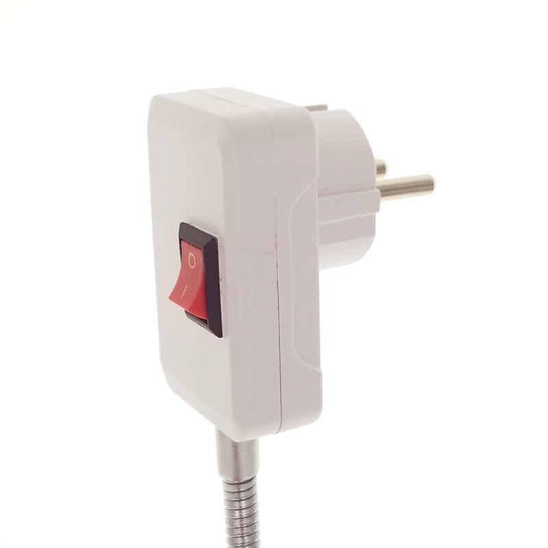 E27 Flexible Extend Extension LED Light Bulb Lamp Base Holder Screw Socket Adapter Converter EU 10CM 30CM 50CM