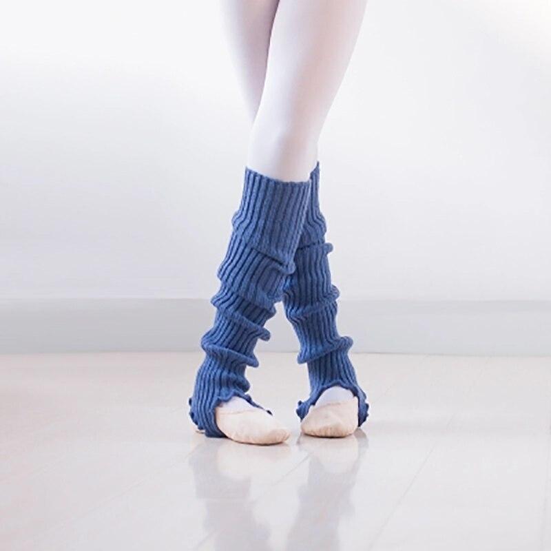 2019 Goede Kwaliteit Meisjes Professionele Dans Sokken Vrouwelijke Ballet Latin Moderne Dans Gebreide Beenwarmers Vrouwen Winter Sport Sok