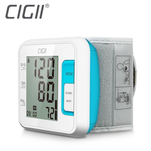 Cigii tonómetro inteligente digital de pulsera brazalete monitor de ritmo cardíaco 1 piezas de atención de la salud de muñeca Monitor de presión arterial