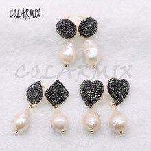 5 paia di orecchini di perle naturali orecchini geometrici orecchini di perle naturali dei monili del commercio allingrosso 4556