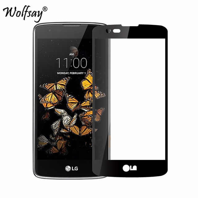 promo code b9bf6 cd165 US $1.4 26% OFF|Full Cover Glass For LG K7 Screen Protector Tempered Glass  for LG K7 LTE K332 M1 Tribute 5 LS675 X210ds MS330 Curved Edge Film-in ...