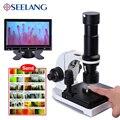 880 цветной 9-дюймовый ЖК-дисплей цифровой электронный HD микроскоп биологический микроциркуляционный контроль крови светодиодный лаборатор...