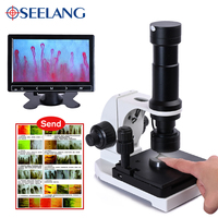 880 color 9 inch LCD Displayer electronic HD digital microscope biological Microcirculation Blood Inspection led Lab Monocular