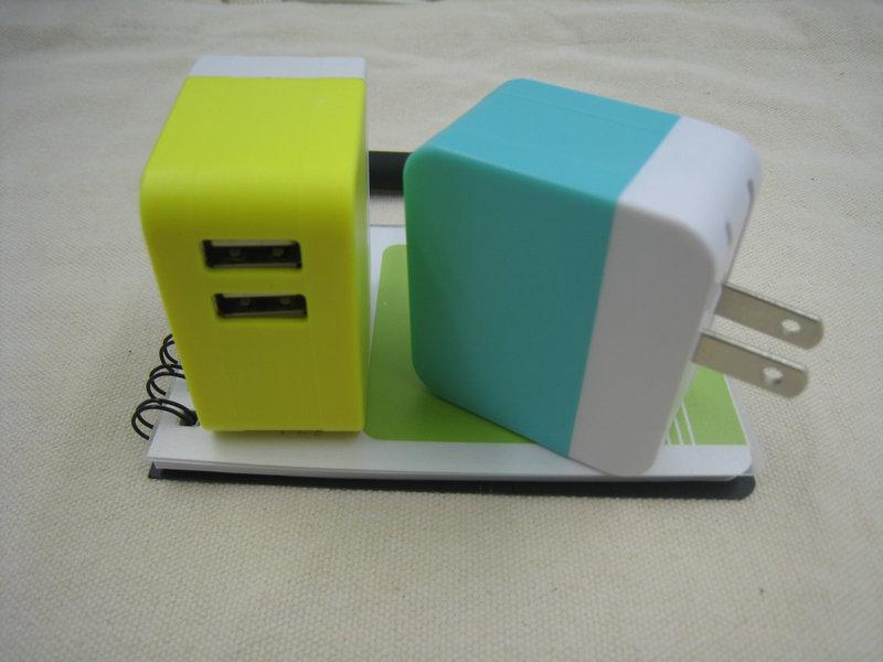 2017 Square USB Ladegerät Adapter US Plug Butterfly 2 USB - Handy-Zubehör und Ersatzteile