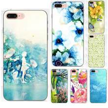 Spring Art Green Blue Watercolor For Huawei Honor 5A 6A 6C 7A 7C 7X 8A 8C 8X 9 10 P8 P9 P10 P20 P30 Mini Lite Plus(China)
