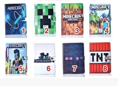 Case For Apple New iPad 9.7 2017 cases For iPad Air 1 2 Minecraft tablet PU leather Cover Flip stand shell coque para